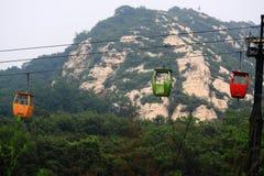 缆道在中国 免版税库存照片