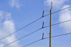 缆绳为分布电力 图库摄影