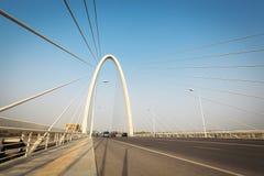 缆绳在xian停留了桥梁 图库摄影