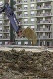 缆绳沟槽的挖掘 库存图片