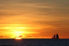缆绳海滩日落,布鲁姆,澳大利亚 库存照片