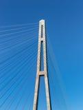 缆绳的片段停留了桥梁。 免版税图库摄影