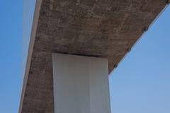 缆绳的片段停留了桥梁 免版税库存照片