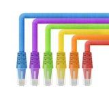 缆绳纸裁减以太网、互联网或者lan线的是 库存照片