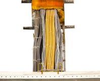 被清除的铜电力缆绳 免版税库存照片