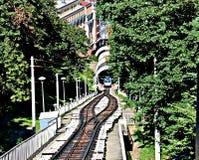 缆索铁路在Kyiv 库存图片