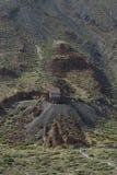 缆索铁路对泰德峰火山  库存图片