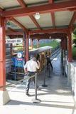缆索铁路对Stanserhorn 图库摄影