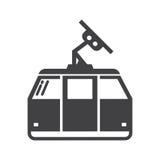 缆索铁路或缆车传染媒介象 免版税库存照片