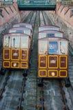 缆索铁路的布达佩斯 图库摄影