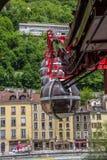 缆索铁路的格勒诺布尔 库存照片