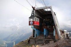 缆索铁路的Elbrus 库存照片