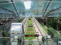 缆索铁路的montmartre巴黎 库存照片