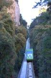 缆索铁路蒙特塞拉特的山,西班牙 库存图片