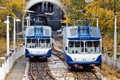 缆索铁路 基辅,乌克兰 Kyiv,乌克兰 免版税库存照片