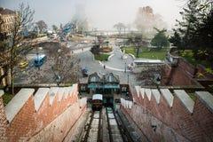 缆索铁路Buda的城堡 库存照片