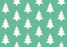 缎带包装在绿色背景样式的圣诞树 免版税库存图片