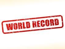 缓冲的世界纪录文本 库存图片