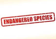 缓冲的濒于灭绝的物种文本 向量例证