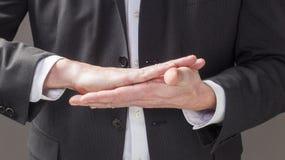 缓和表示的肢体语言  库存照片