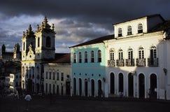 缓慢做Pelourinho,萨尔瓦多,巴西 免版税库存图片