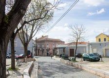 缓慢做Terreiro (正方形), Ameixoeira,里斯本,葡萄牙 免版税库存图片