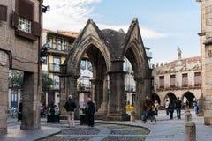 缓慢地da奥利维拉广场Guimarães 免版税库存照片