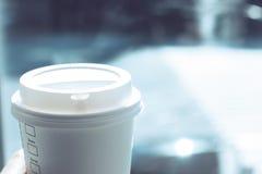 缓慢的生活,咖啡时间在高峰时间 免版税库存图片