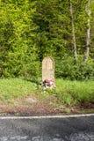 缓解雷日纳纪念碑在Alto de Mezquiriz,西班牙 库存照片