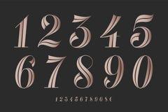 编号字体 古典典雅的字体 向量例证