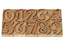 编号概述的类型木头 免版税库存图片