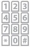 编号电话键盘 免版税库存图片