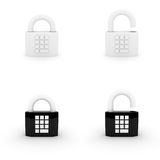 编码停止的锁定 免版税库存图片