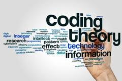 编码理论词在灰色背景的云彩概念 向量例证