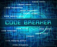 编码破碎机被解码的数据文丐第2个例证 向量例证