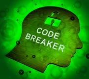 编码破碎机被解码的数据文丐3d翻译 向量例证
