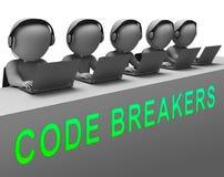 编码破碎机被解码的数据文丐3d翻译 库存例证