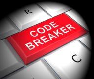 编码破碎机被解码的数据文丐3d翻译 皇族释放例证