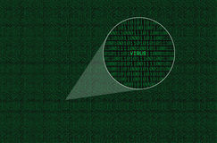 编码被扩大化的病毒 免版税库存图片