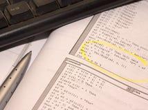 编码软件 免版税库存照片