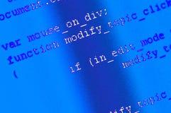 编程的代码背景 免版税库存图片