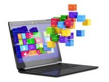 编程的概念 不同的机器代码语言五颜六色的b 免版税库存照片