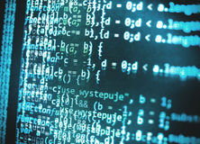 编程的编制程序原始代码屏幕 图库摄影