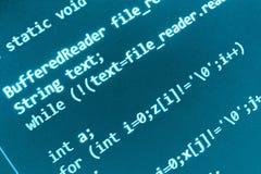 编程的代码原始代码屏幕 库存图片
