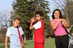 编组多种族的孩子 免版税库存照片