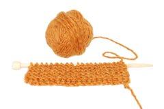 编织与纱线球  图库摄影