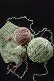 编织从自然羊毛 图库摄影