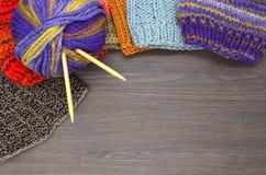 编织和羊毛 图库摄影