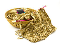 编织的围巾 图库摄影