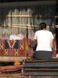 编织的妇女 免版税库存照片